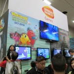 The Bandai Namco booth had playable demos of Pac-man in 3D and Dark Souls II.