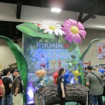Pikmin 3 was heavily promoted in the Nintendo booth.