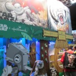 A picture from the huge Star Wars booth.