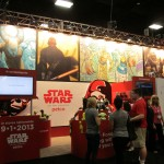 Another picture of the huge Star Wars booth.