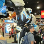 Max Steel statue found at the Mattel booth.
