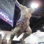 A statue of Azog the Defiler from The Hobbit.