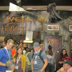 Tolkien-related displays and collectibles.