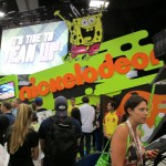 The Nickolodeon booth.