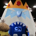 The Cartoon Network's Adventure Time booth.